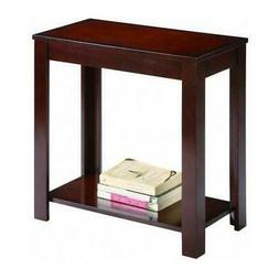New Style Side Table Chair End Wood Stand Living Room Espres