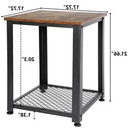Side Tables End Table For Living Room Industrial Metal and W