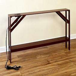 Skinny Sofa Table with Outlet for Phones and Laptops - Moder