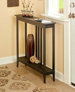 Slim Space Saver Accent Tables Wooden Narrow Hallway Entry S