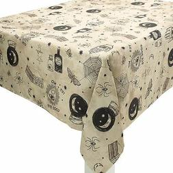 Spooks and Spells Halloween Fabric Tablecloth, Washable, 60