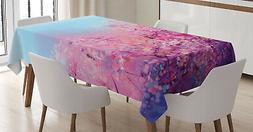 Spring Floral Tablecloth Ambesonne 3 Sizes Rectangular Table
