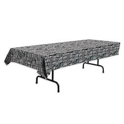 """Beistle 54535 Stone Wall Tablecover, 54"""" x 108"""""""