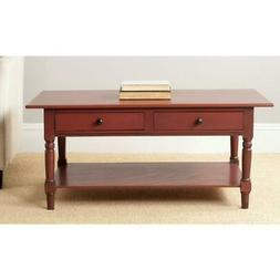 storage coffee table rectangle shape drawers pine