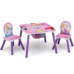 Table and Chair Set with Storage Girls Toodler Children Disn