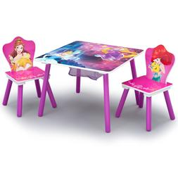 Table and Chair Set with Storage Girls Toodler Friendship Ad