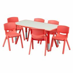 Table for Kids Chairs Set Activity Adjustable Daycare Presch