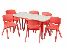 Table for Kids Chairs Set Activity Adjustable Stackable Dayc