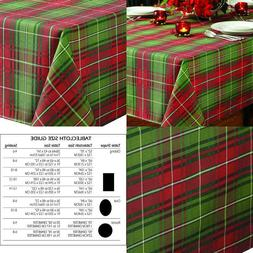 """Tablecloth Plaid Printed 60X120"""" Home Holiday Decorations"""