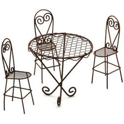 Darice Timeless Miniatures Wire Garden Table and Chairs Set