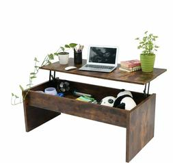 Top Lift Coffee Table w/ Hidden Compartment Storage Shelf Li