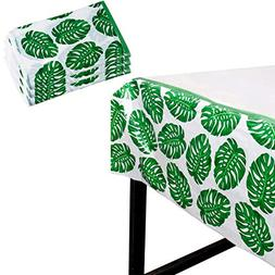 Tropical Party Tablecloth - 3-Pack Disposable Plastic Rectan