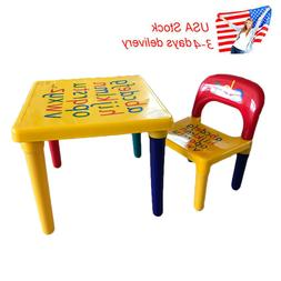 US Home Children Baby Letter Table Chair For Education Learn