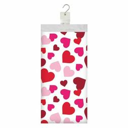 valentines day hearts table cover plastic 54