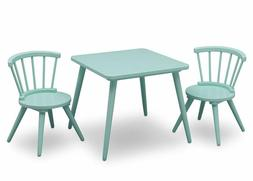 Delta Children Windsor Kids Wood Chair Set And Table , Aqua