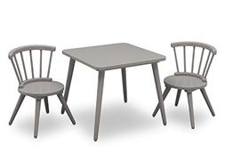 Delta Children Windsor Table and 2 Chair Set, Grey