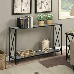 Console Table Modern Sofa Accent with Shelf Stand Entryway H